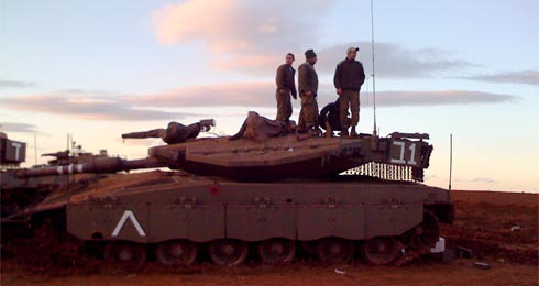 IDF tanks and crews on the border with Gaza