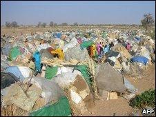 Tent city in Darfur.