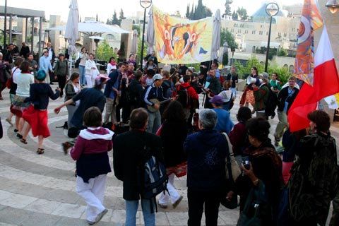 Dancing Catholic Poles in Jerusalem: So... uh... where are your uh... Grandparents?