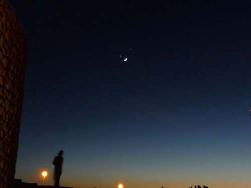 Moon Jupiter and Venus