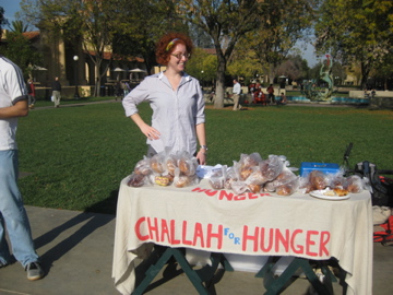 Eli visiting Challah for Hunger at Stanford
