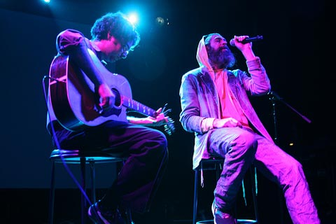 Adam Weinberg and Matisyahu at the Night of Unity