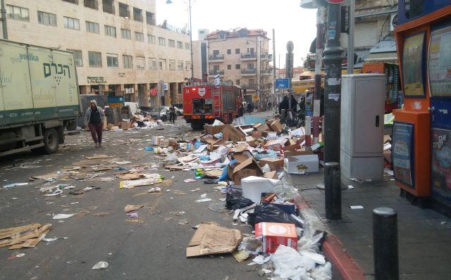 Nir Barkat Jerusalem garbage strike