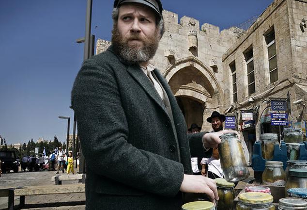 Seth Rogen in Jerusalem