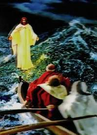 jesus on the water