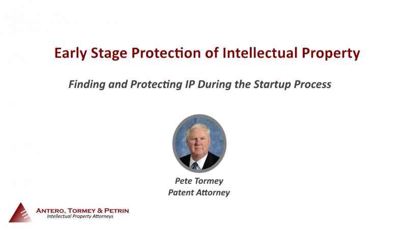 Early Stage Protection of Intellectual Property Webinar