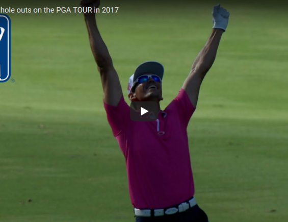 Top 5 fairway hole outs on the PGA TOUR in 2017