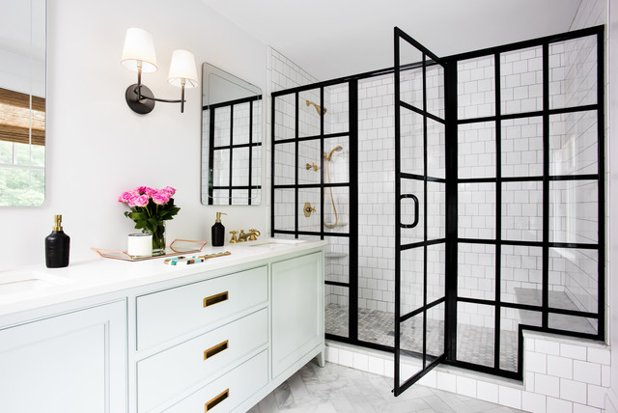 Black shower door, shower doors