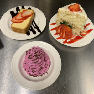 Arnold House Nursing Home Meals and Desserts