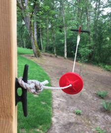 Owner installed zipline