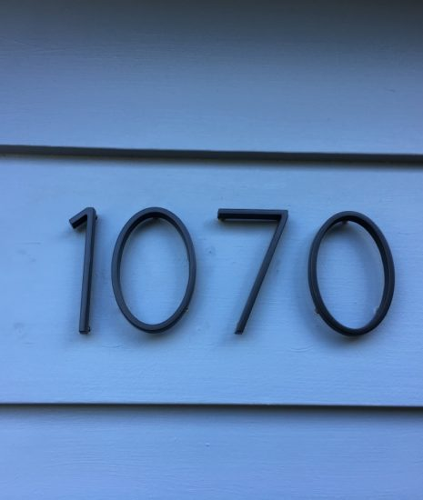 Black contemporary house numbers