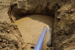Hydro excavation is under way in el paso