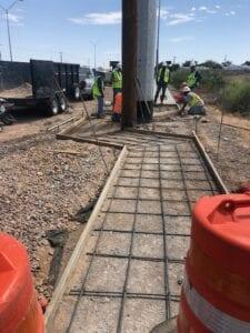 Lb & Sons doing a Commercial Concrete project in El Paso