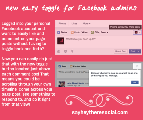 New Easy Toggle for Facebook Page Admins