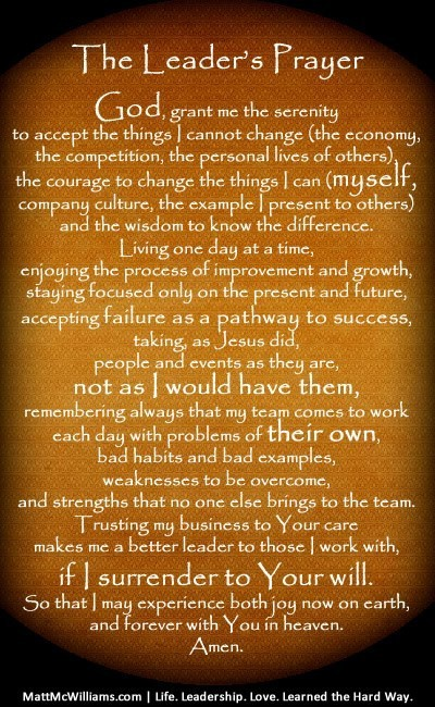 Prayer for Leadership: Trailblazing a New Path