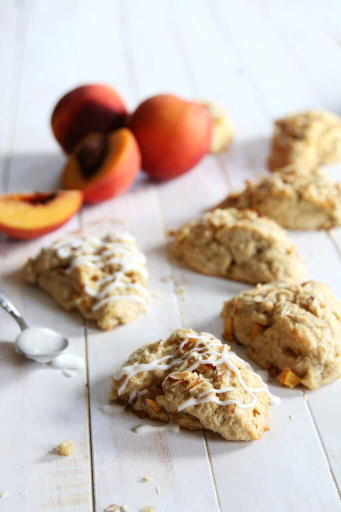 Vegan Peach Scones