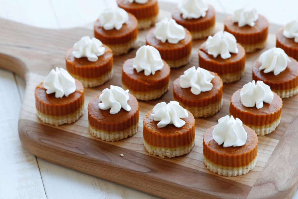 Mini Pies on a serving plate