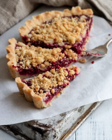 Easy Vegan Raspberry Tart