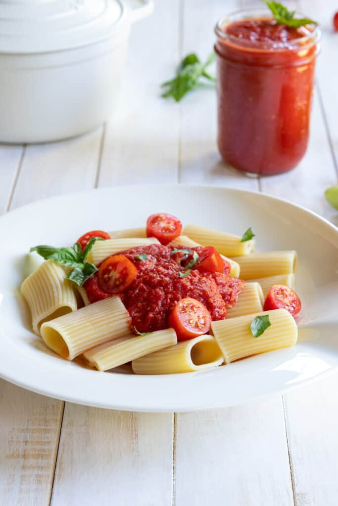 Roasted Tomato Sauce served with Pasta