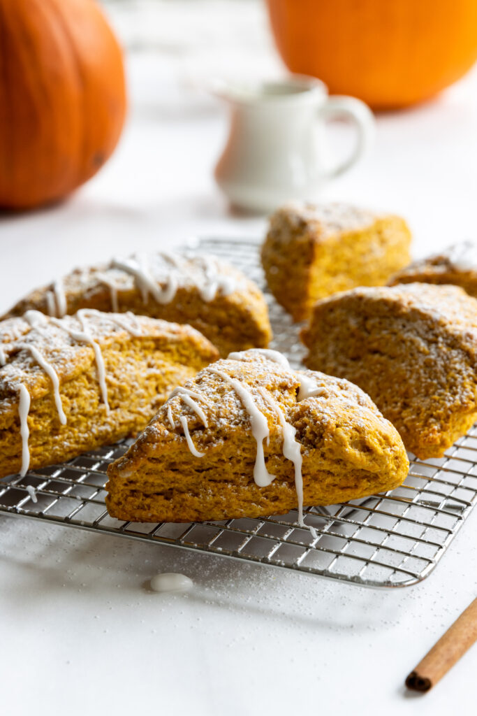 Pumpkin Scones on a Cooling Rack