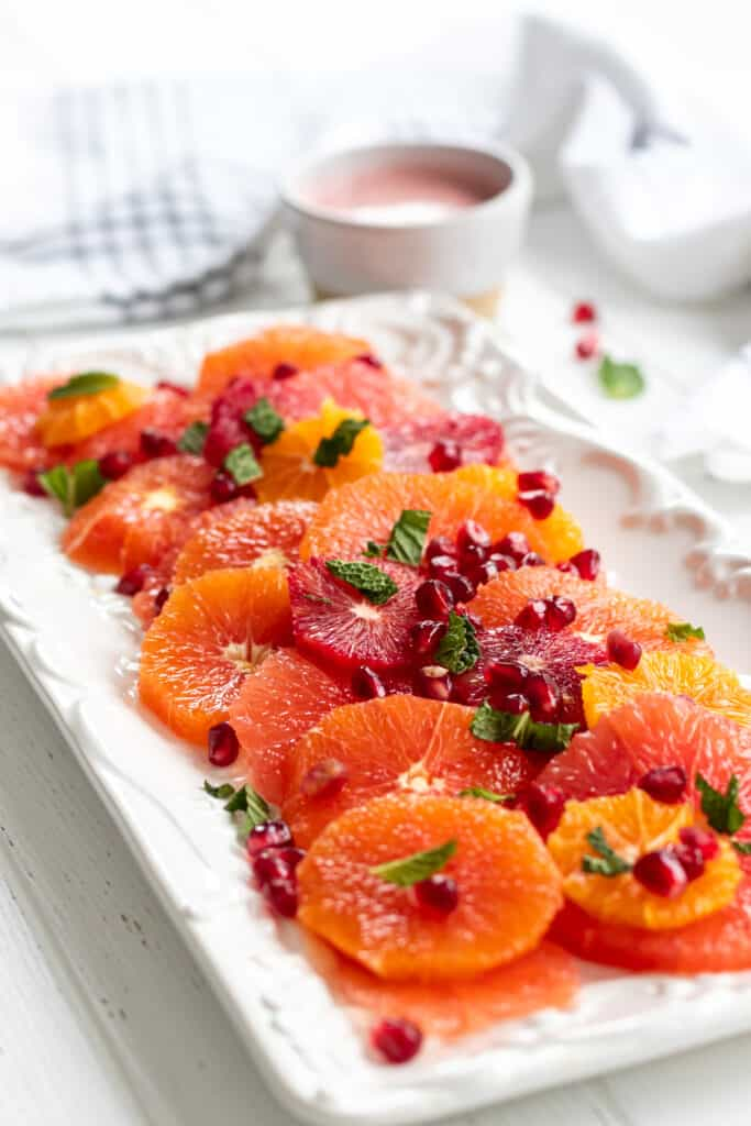 Citrus Salad with Pomegranate Dressing
