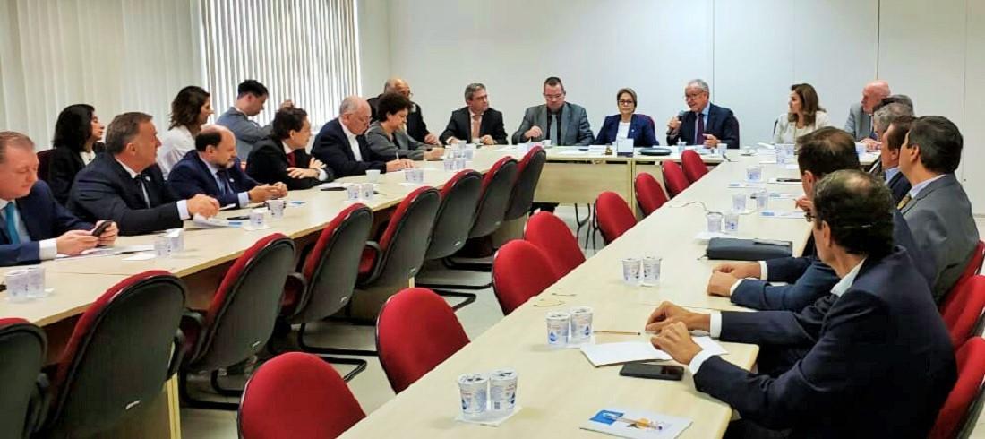 Minister Tereza Cristina Dias in a meeting at ABPA headquarters
