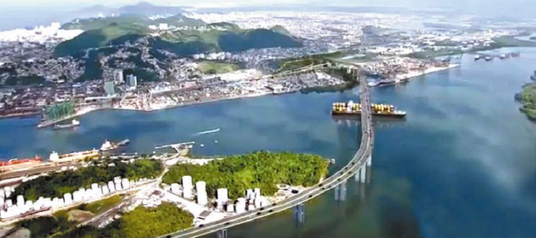 Ponte Santos Guarujá (Porto de Santos - Port of Santos)