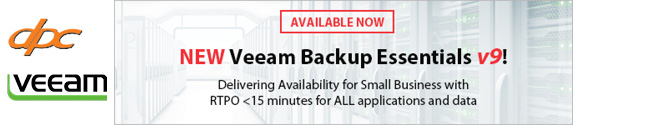 Veeam Backup Essentials v9 Banner