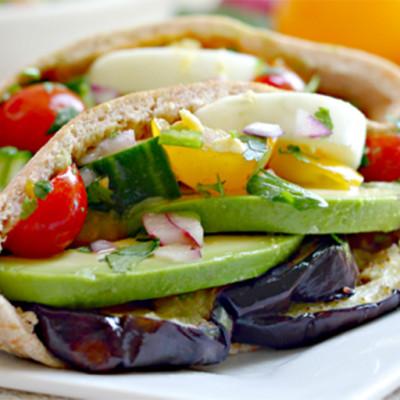 Southwestern Style Israeli Sabich Sandwich