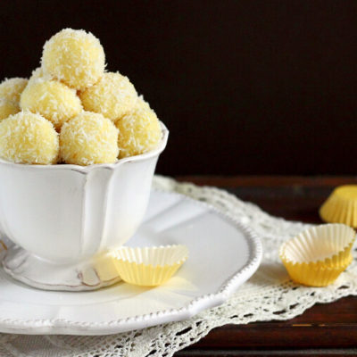 Limoncello White Chocolate Truffles