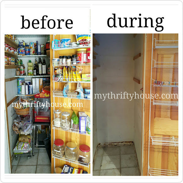 pantry challenge before and during