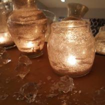 DIY glittered candle jars and vases