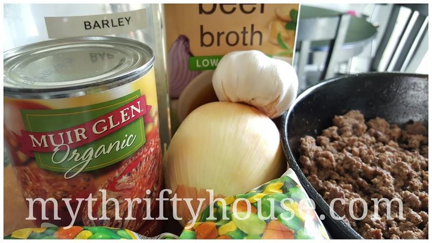 Beef Barley Vegetable Soup Ingredients