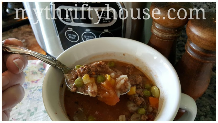 Crockpot Vegetable Beef Barley Soup