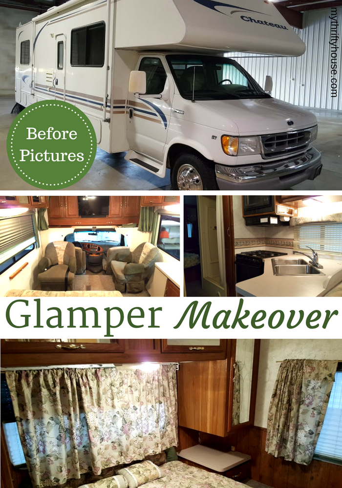 Before pictures of my glamper along with a to do list and wish list of items that we want to fix.