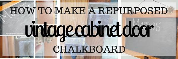 repurposed vintage cabinet door directions