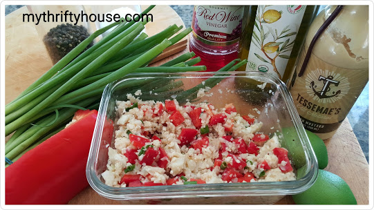 whole30 day 23 cauliflower salad