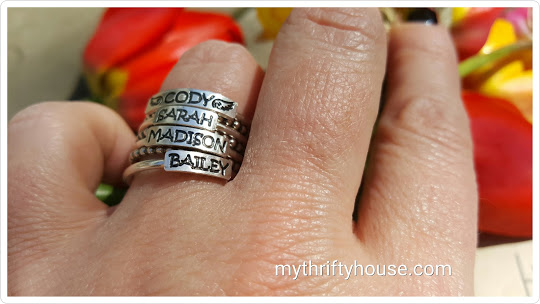 personalized ring close up