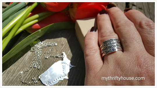 Personalized ring and necklace