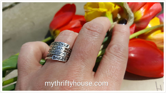 personalized ring close up stack