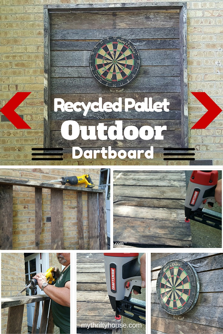 Outdoor Dartboard Pinterest Collage