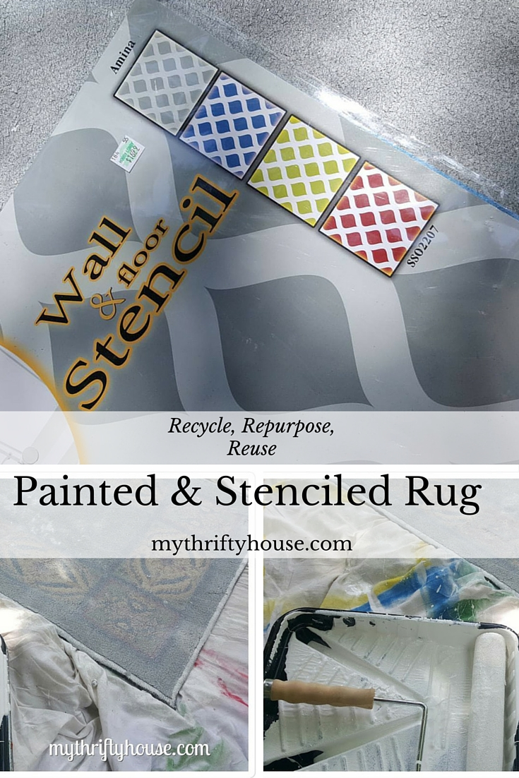 How to make your own spray painted and stenciled rug