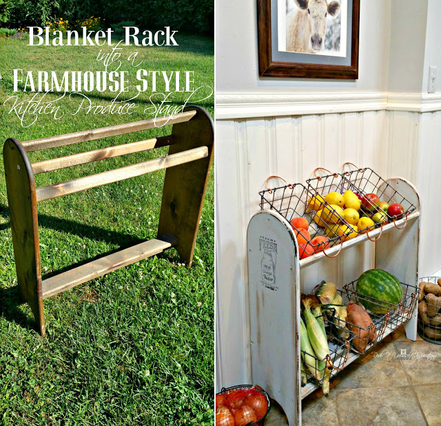 Blanket stand into Veggie Stand before and after