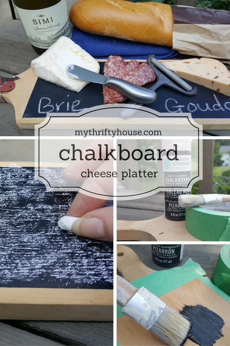 chalkboard cheese platter picnic