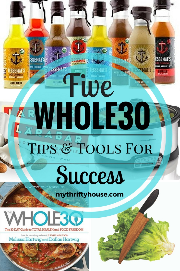 5 Whole30 success tips and tools to help you stay on track with your journey to being healthy.