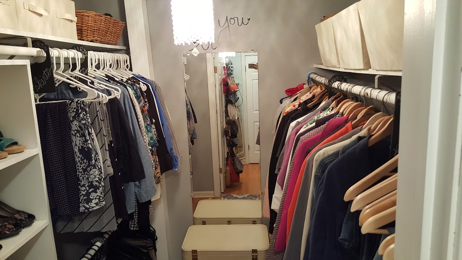 decluttering and organizing with a master bedroom closet makeover