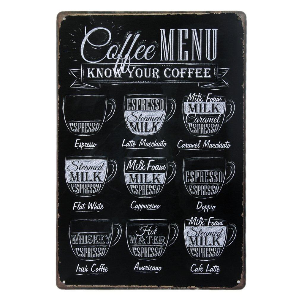 Coffee Lovers Menu Sign