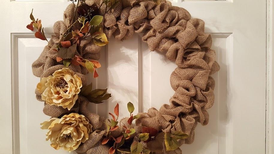 fall-burlap-wreath-on-front-door