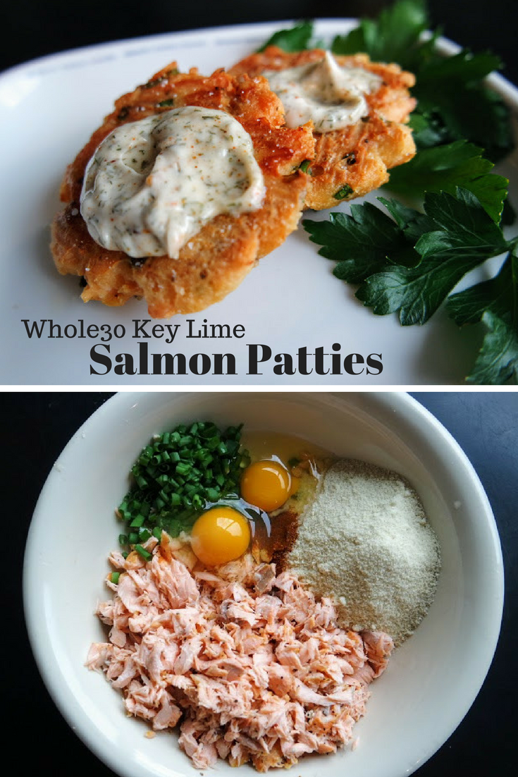 Delicious 6 incgredient Whole30 Key Lime Salmon Patties
