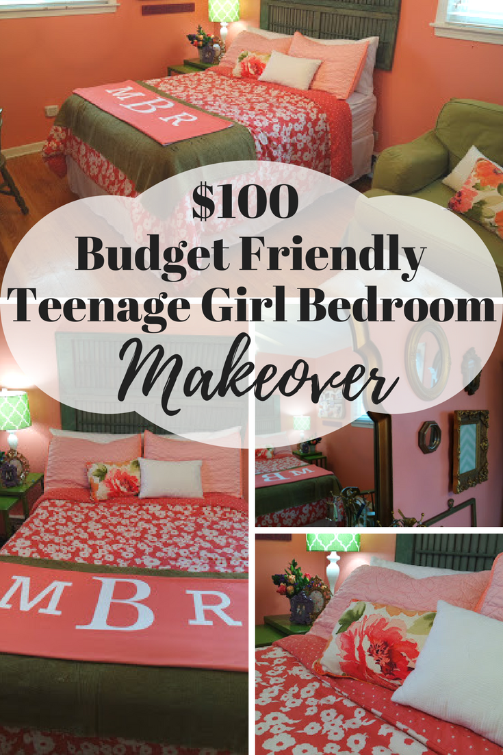$100 budget friendly teenage girl bedroom makeover